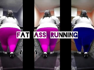 Ass on treadmill x3...