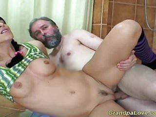 Grandpas first massage...