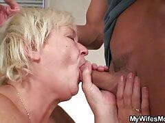 Cock-hungry grandma begging for taboo fuck