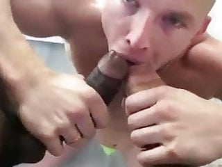 Two Hung Cocks vs Horny Slut