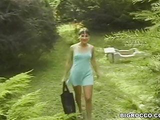 Retro xxx video by within the backyard