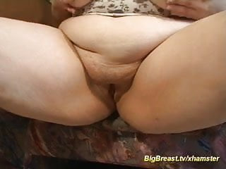 redhead houswife shows her monster boobs