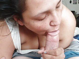 Wife throat deep