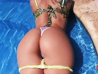 Tits g strings at the pool...