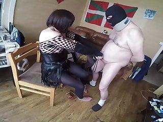 Shemale training a sub