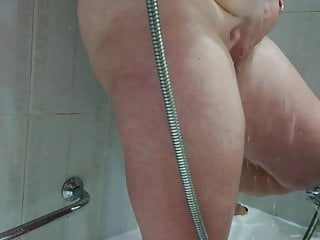 Joanne in the shower
