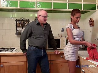 Young blacked by an old man...
