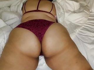 Cuban models purple bra and panties for me...