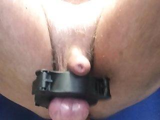Tortured balls dildo ride...