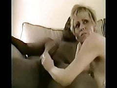 Horney long nippled BBC mature slut