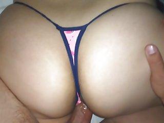 WATERMELON THONG!! sis'S BIG ASS!!