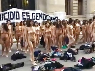 Protest in argentina colour version...