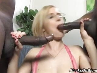 Real estate agent girl clara pleases black customers...
