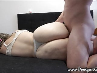 Pawg first gets fucked in her pussy and then also her tight ass