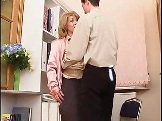 Orgasm Handjob video: Milf Secretary