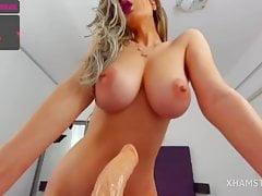 jolie blonde aux gros seins Porn Videos