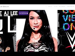 AJ Lee shows her official website!