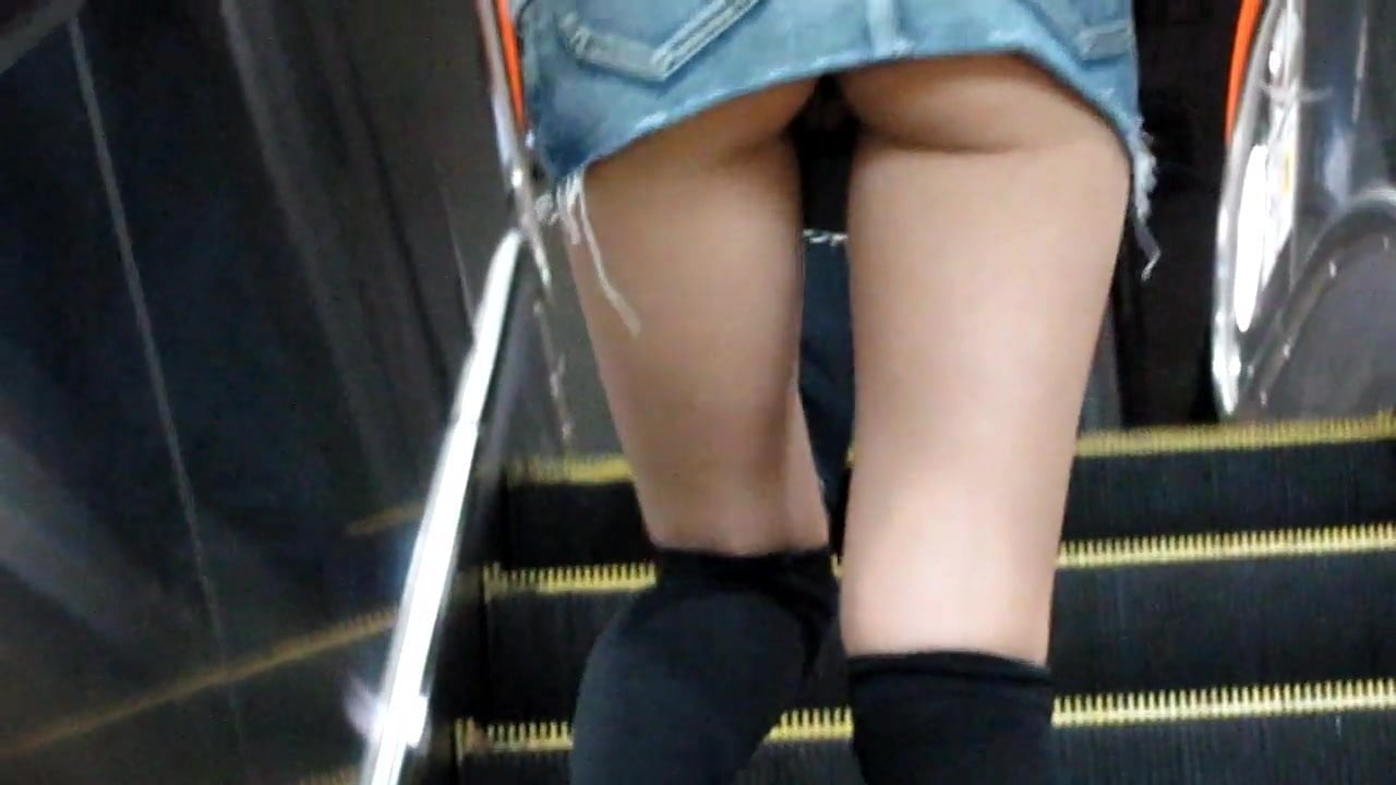 Upskirt No Panties Granny