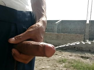 Indian big cock handjob in public places and cumshot