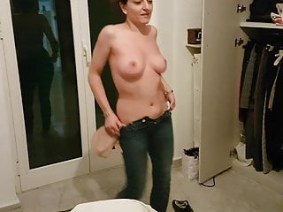 Topless slut milf dancing...