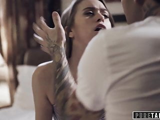 PURE TABOO Stepbrother Catches His Stepsister Fucking Stepdad