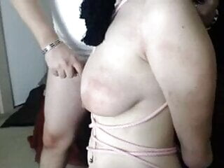 Girl tied spanked used by guy