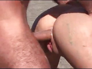 Superb fucked beach double cum...