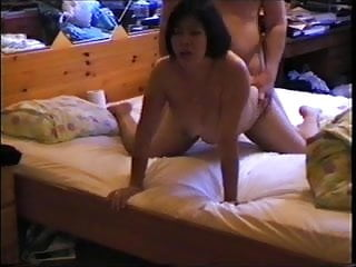Asian mom in lingerie face sitting and doggystyle...