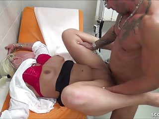 Two german doctor fuck in hospital and creampie...