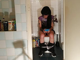 Hot goth sexy teen pees whilst taking part in together with her telephone pt2 HD