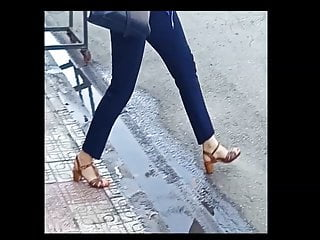 feet beautiful heel high street spy  in