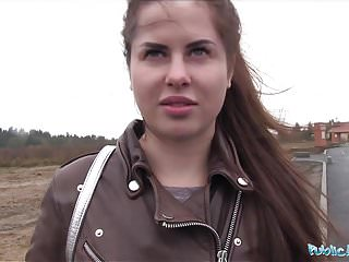 Public Agent Wet Russian Cassie Fire Speads Legs For Cash