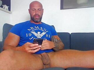 Muscle Older Man Exposing His Juicy Balls – Special