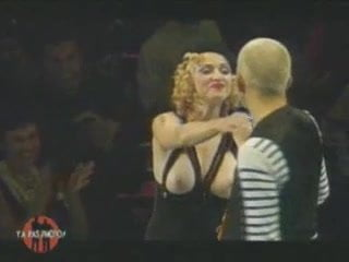 Madonna Goes Topless At Fashion Show