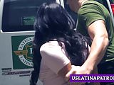 Amazing Latina Monica Asis hammered by immigration officer