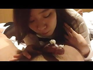 Korean college girl sucking cock...