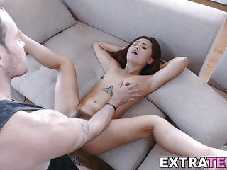 Tiny Asian sweetie dicked and facialized in threeway
