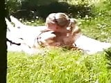 Girl caught masturbating in the sun!