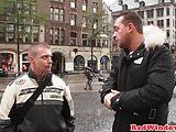 Busty Dutch hooker bigtits jizzed by tourist