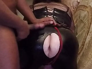 Big black cock jerk on ass...