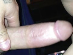 Bouncing on my husbands fat cock