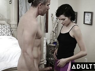 Petite Babysitter Loses Her Virginity On Her First Day