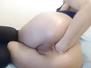 Mega Gape and Fisting Her Hungry Butt