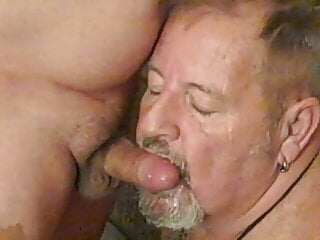 Worshiping and milking hot Latino uncut cock.