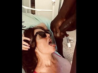 Hot gilf scarlet tasting cum to the tongue...