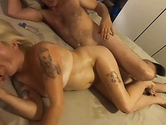 Threesome with Blonde Mature GILF