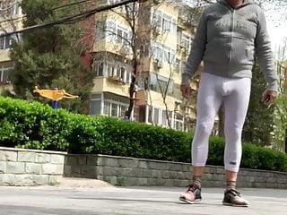 Mature slave piss on street...