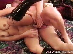Busty Teen In Hot Threesome