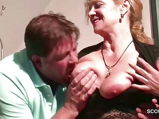 German big tit step mom want his...