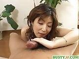 Busty Hazuki loves big cocks